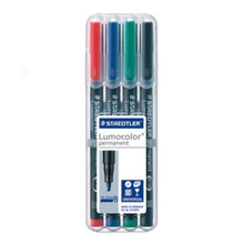 Staedtler Lumocolor Permanent Broad - Box of 4 Colours (2.5mm)