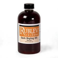 Rublev Oil Medium Dark Drying Oil (Black Oil) - 8 fl oz