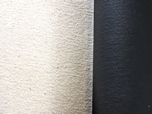 Custom Stretched 12oz Black Primed Canvas