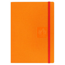 Caran D'Ache Notebook Canvas Cover A5 Blank Pages - Orange   |  454.530