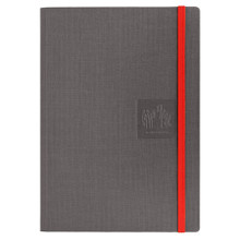 Caran D'Ache Notebook Canvas Cover A5 Lined Pages - Grey   |  454.601