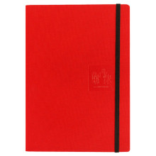 Caran D'Ache Notebook Canvas Cover A5 Lined Pages - Red      454.603