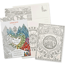 Caran D'Ache Colouring Postcards Spirit of the Alps 12 Illustrations   |  454.201