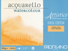 Fabriano Watercolour 300GSM Cold Pressed Block - 12 x 18cm