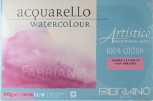 Fabriano Watercolour Block Hot Press - 23 x 30.5