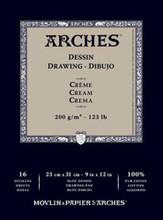 Arches Dessin Drawing Pad Cream 200GSM - 23cm x 31cm