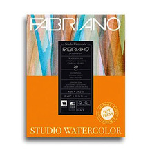 Fabriano Studio Watercolour 200GSM Pad Hot Pressed (Smooth) 20 Sheets - 22.9cm x 30.5cm