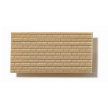Textured Polystyrene Sheet, Through-Stamped, Medium Olive-Grey Brickwork - 1:50