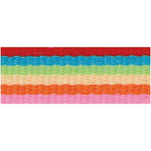 Rico Design Fabric Ribbon - Stripes, Multicolour Basic