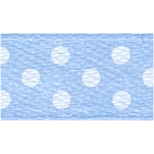 Polka-Dot Satin Ribbon - Light Blue with White Dots