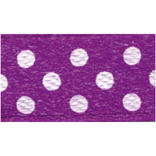 Polka-Dot Satin Ribbon - Violet with White Dots