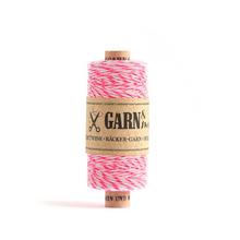 Garn & Mehr Baker's Twine - Neon Pink/White