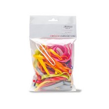 TPE Rubber Bands - Assorted Colours, Various Sizes - 90g