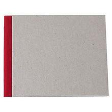 "Pasteboard Cover Sketchbook 100gsm 144pgs - 15cm x 12cm/5.9"" x 4.7"" Landscape - Red"