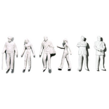 Preiser Unpainted Detailed Various Figures (Standing, Walking, Businessmen) - 1:200
