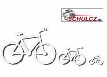 White Polystyrene Bicycles - 1:100