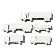 White Polystyrene Lorry Set - 1:200
