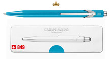 849 Ballpoint Pen Metal-X Turquoise with box  |  849.671