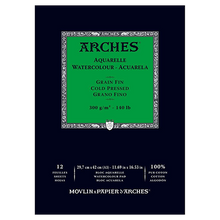 Arches Watercolour Pad Cold Pressed (Medium) 300GSM - A3