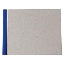 "Pasteboard Cover Sketchbook 100gsm 144pgs - 15cm x 12cm/5.9"" x 4.7"" Landscape - Blue"