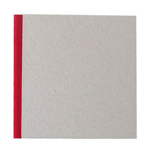 """Pasteboard Cover Sketchbook 100gsm 144pgs - 17cm x 17cm/6.7"""" x 6.7"""" - Red"""