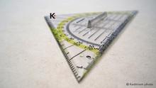 Rumold Duo Geometric Triangle Protractor Plastic Removable Handle