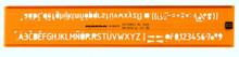 Rumold Lettering Stencils 3.5mm