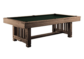 Philadelphia Pool Table—Weathered Brown