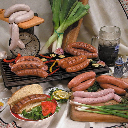 Bratwurst with garlic and butter