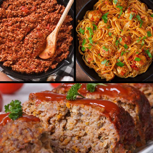 Ssayersbrook sampler of ground meat, bison, wild boar, elk