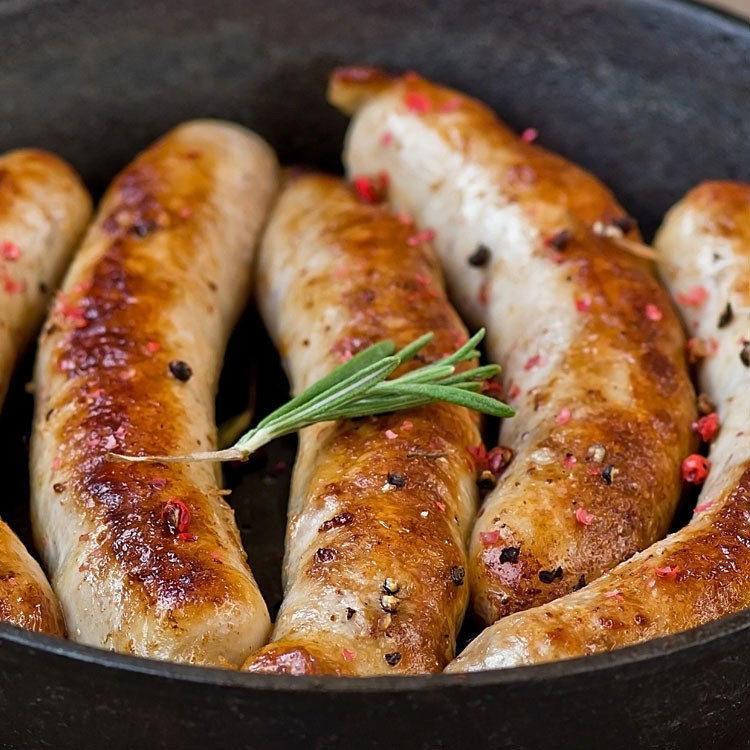 Hickory smoked pepper cheese bratwurst