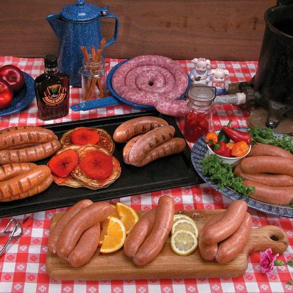 Italian sausage and bratwurst