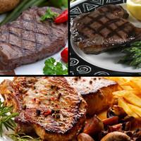 Steak sampler from Sayersbrook bison