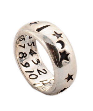 Star Sterling Silver Ring Sundial