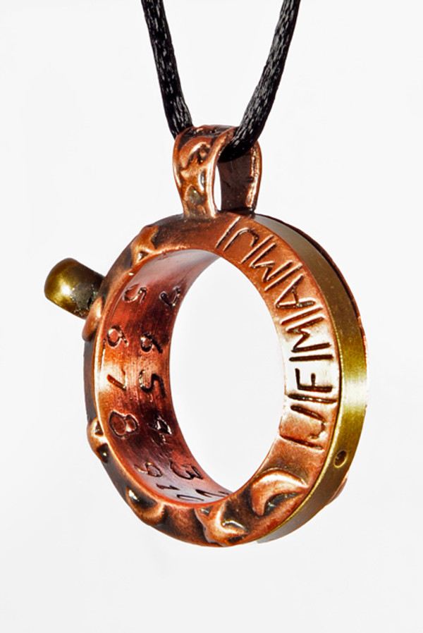 "Aquitaine Celestial Copper Sundial Ring ""clock face"""