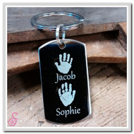 Double Hand or Footprint Keychain