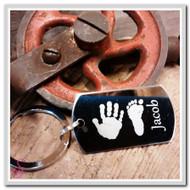 Hand and Footprint Keychain
