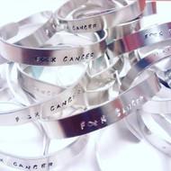F * K Cancer Aluminum cuff