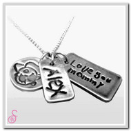 Handwriting or Art Necklace