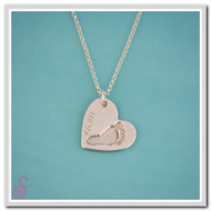 Single Hand or Footprint Necklace