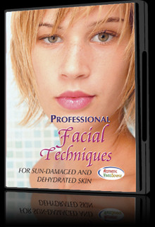 Dvd professional facial techniques for sun damaged and for A1a facial and salon equipment