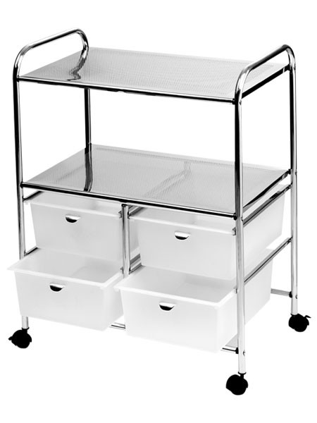 D4w pibbs white work cart a1a facial salon equipment for A1a facial and salon equipment