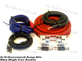 Sky High Car Audio 2/0 CCA Amp Kit