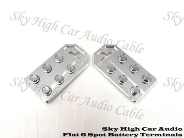 Sky High Car Audio 6 - 1/0 or 4 Gauge Flat Battery Terminals