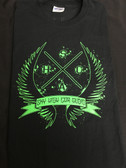 SHCA X Wing Logo T-Shirt Black w/ Green Logo