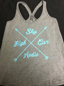 SHCA Female Tank Top  Grey w/ Teal Logo