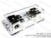 (3) 4ga to (2) Separate  8 ga Mini ANL Fused Distribution Block