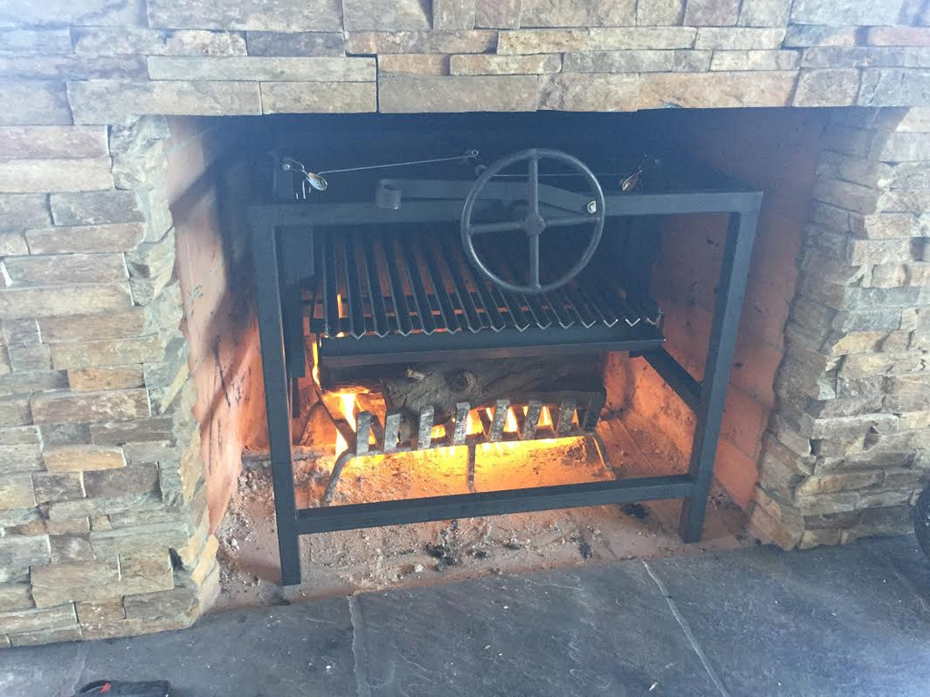 fireplace grill fine asado cooking