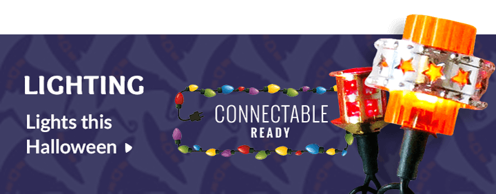 Lighting. Lights this Halloween. Connectable Ready