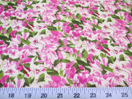 Discount Fabric Quilting Cotton Lavender and Green Floral 307K